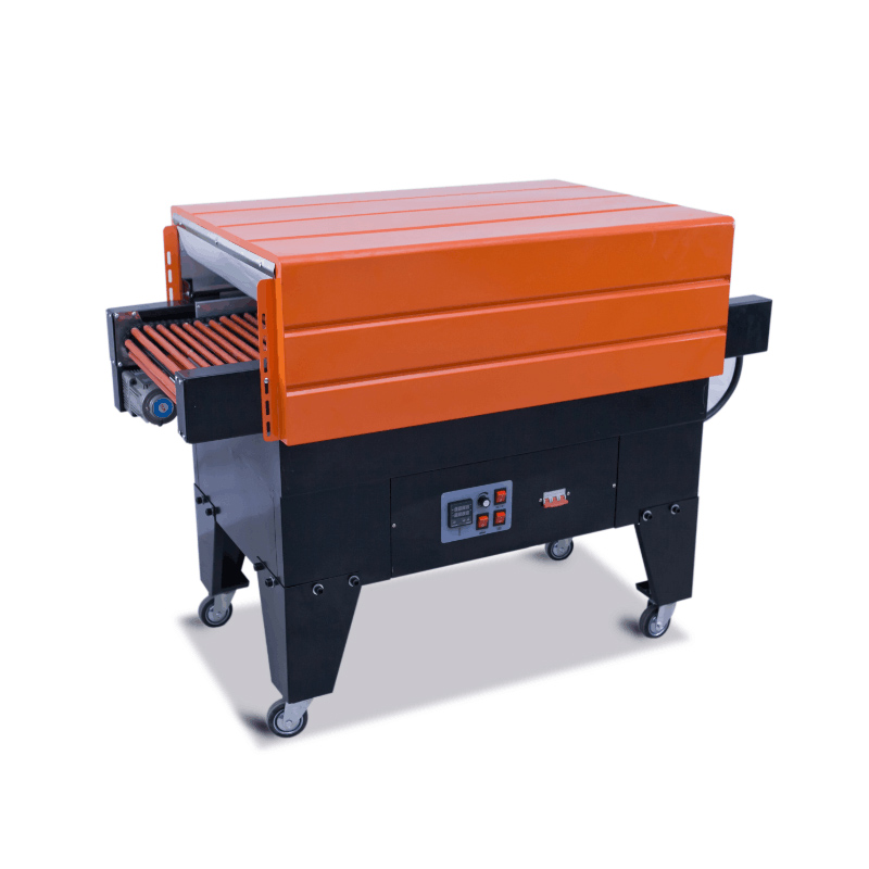 Plastic film thermal shrinking machinery wrapping shrinker table style PVC PP wrappings 0-10m/min,even tunnel temp with fan цена и фото