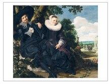 prints portrait canvas prints Imagich Top 100 prints Marriage Portrait of Isaac Massa and Beatrix van der Laen  By Frans Hals the Elder