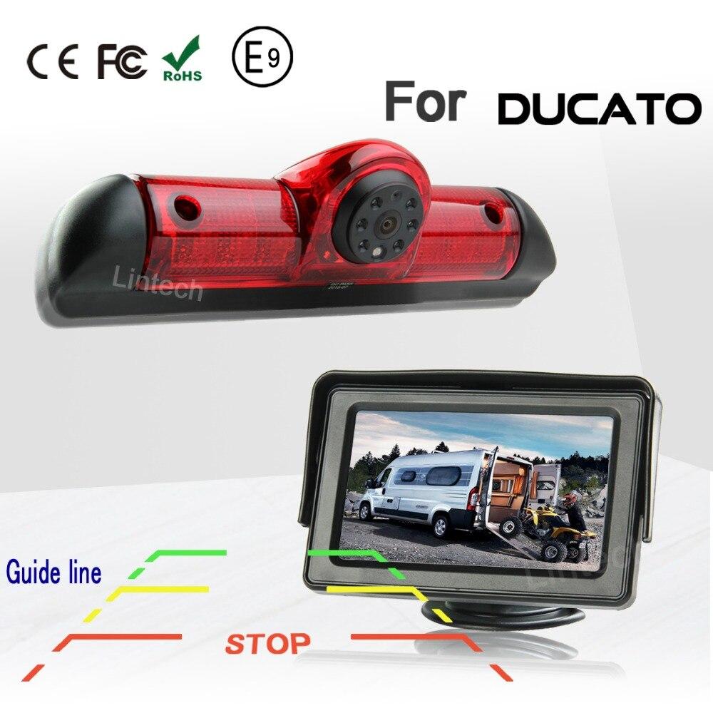 Задний тормоз камеры с Руководство line 4,3 дюймов монитор Для Ducato автомобиля