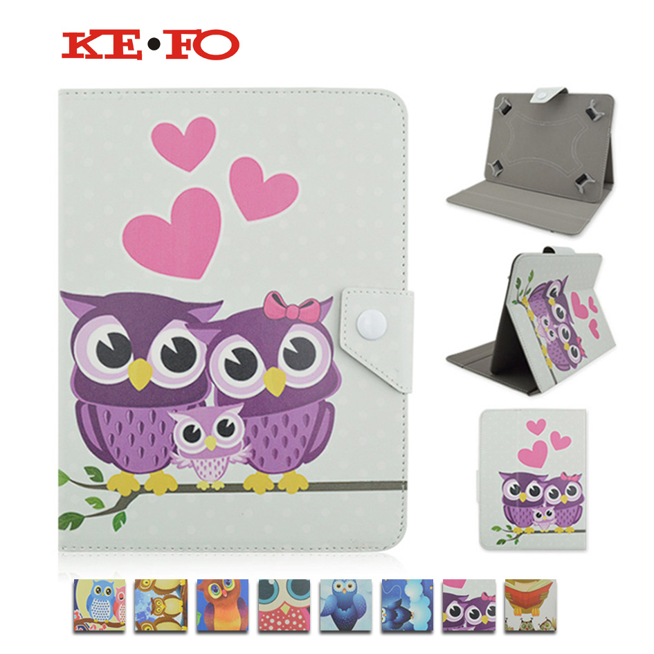 Printed PU Leather case cover for lenovo 3500 A7-50 for Lenovo A3500 7inch Universal tablet cover w/Screen Protector Film KF492A universal 61 key bluetooth keyboard w pu leather case for 7 8 tablet pc black
