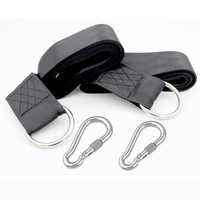 Drew Gear Tree Swing Hanging Kit Two 5ft Long Strap 2 Stainless Steel Locking Carabiners And
