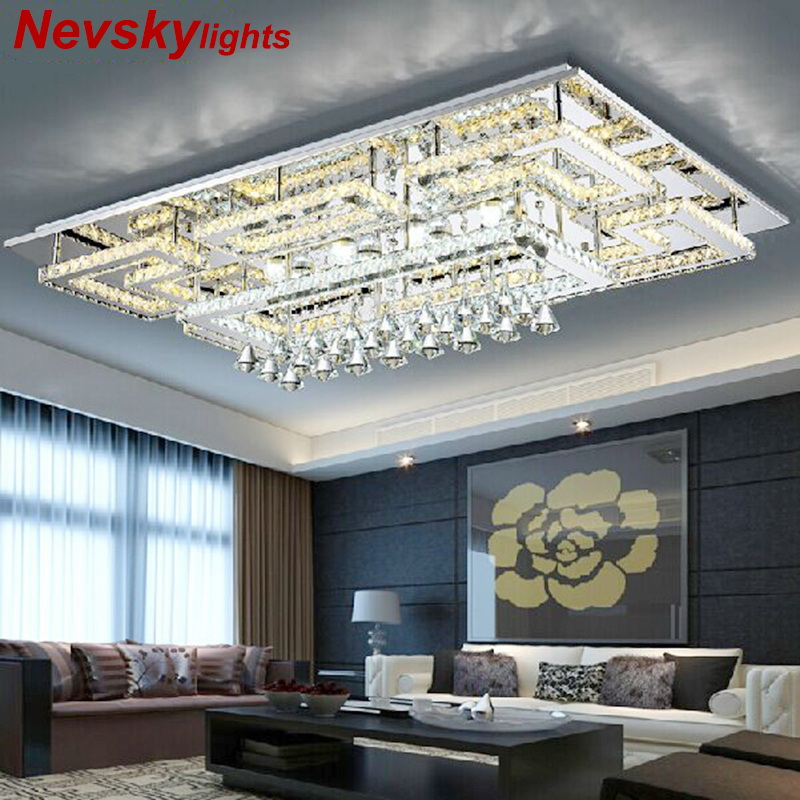 Luxury Modern Crystal Ceiling Light With Glass Lampshade Gold Ceiling Lamp for Living Room Bedroom lamparas