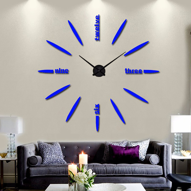 2017 muhsein newFree shipping new wall clock watch clocks Circular relojde pared home decoration acrylic special sticker Living