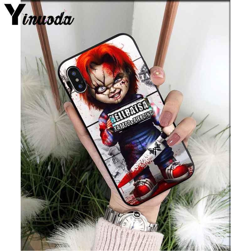 Yinuoda CHUCKY KINH DỊ CHURSE CHUCKY CHILDS TPU đựng Điện Thoại di động Apple iPhone 8 7 6 6S 6S Plus X XS MAX 5 5S SE XR Di Động Bao