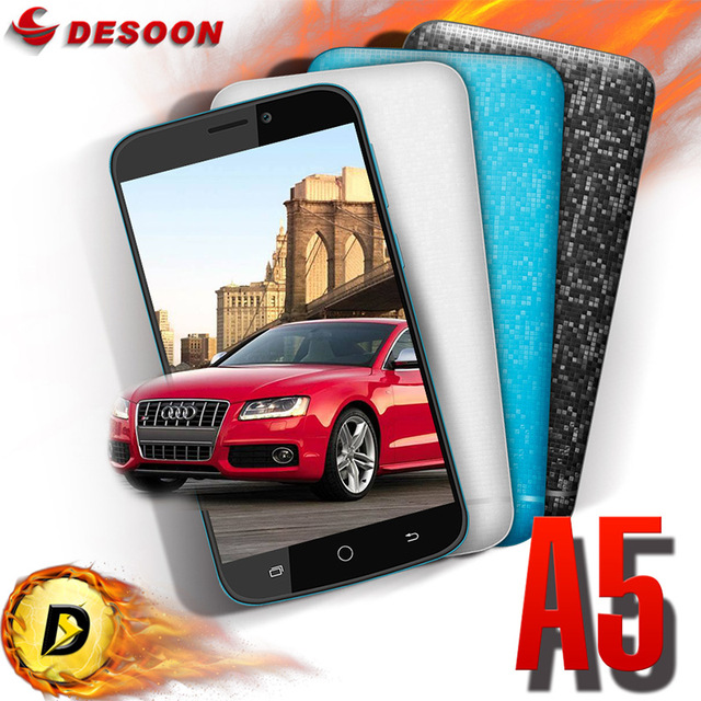 """Case Gift Original Blackview A5 Mobile Phone 3G Smartphone Android 6.0 4.5"""" MT6580M Quad Core 5MP Smartphone Free Earphone"""