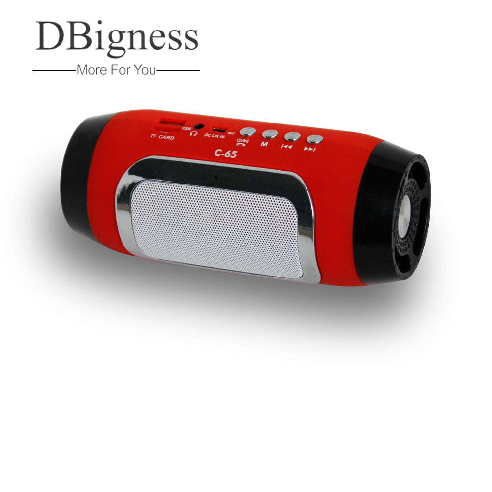 Dbigness Bluetooth Speaker Wireless de sem fio Mini Stereo Radio Speaker Wireless Portable Audio MP3 Player for Computer Phone