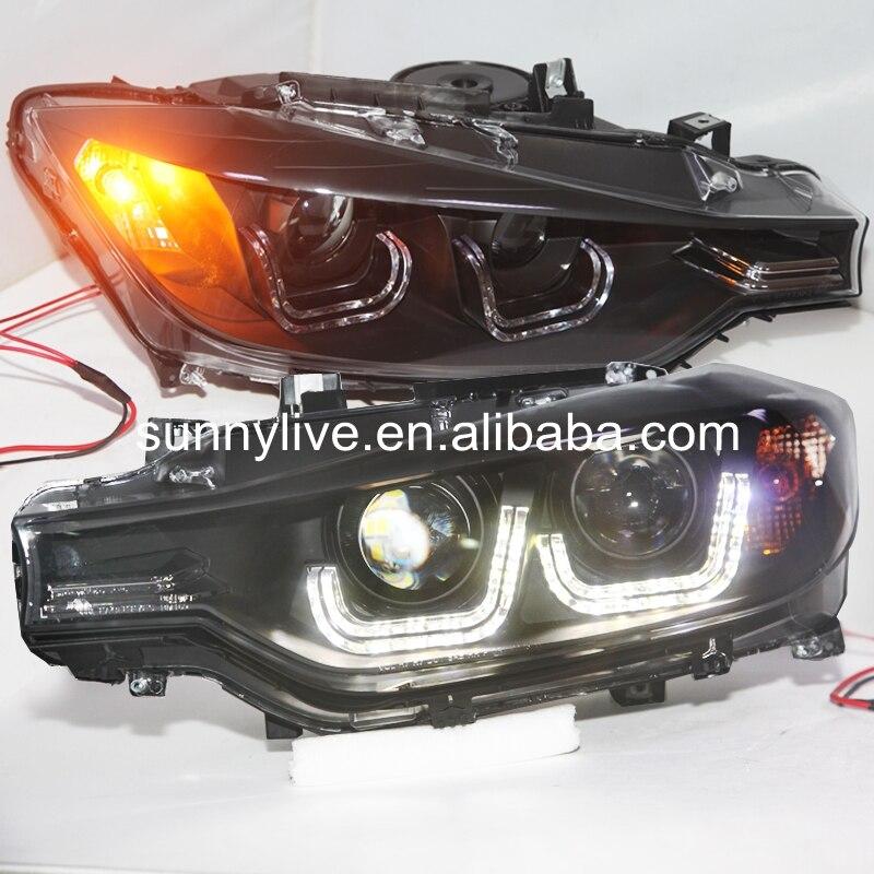 Для BMW F30 F35 318 320 325 328 330 335 LED Ангельские глазки фар для оригинального автомобиля без HID комплект lf