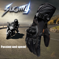 Winter Motorcycle Gloves Waterproof Four Seasons Riding Motorcycle Riders Anti Fall Off Gloves