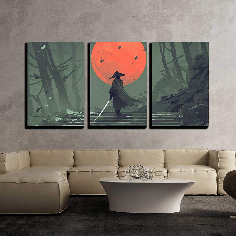 Forest Of Stars Night 5 panel canvas Wall Art Home Decor Poster Print