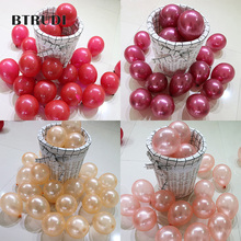 BTRUDI 30pcs /lot 5inch round balloons rose red blue Birthday Party Wedding & Engagement Anniversary Decorative