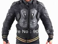 Free Shipping 1 Pcs Black Adult Body Armor Jacket Motorcycle Guard Chest Protector S M L