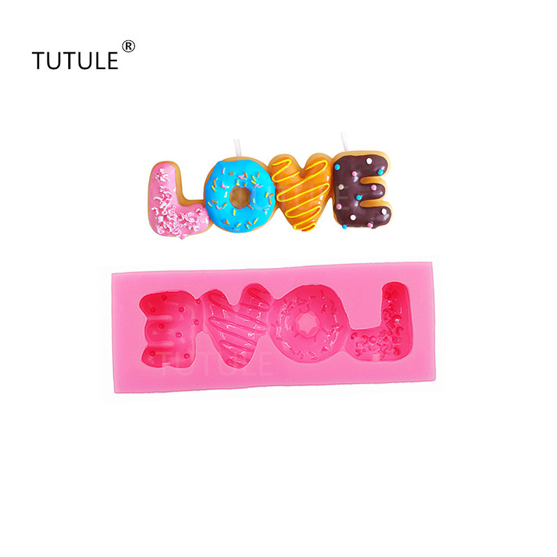Gadgets Cookie Biscuit Mold LOVE Silicone Mold Decoden Mold Kawaii Miniature Sweets Fimo Polymer Clay Food Mold in Clay Extruders from Home Garden