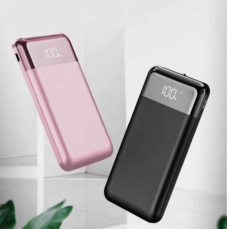 Hot 30000mah Power Bank  Portable Charger Dual USB Output External Cell Phone Battery Pack with LED Light for iPhone7 8 9 iPad