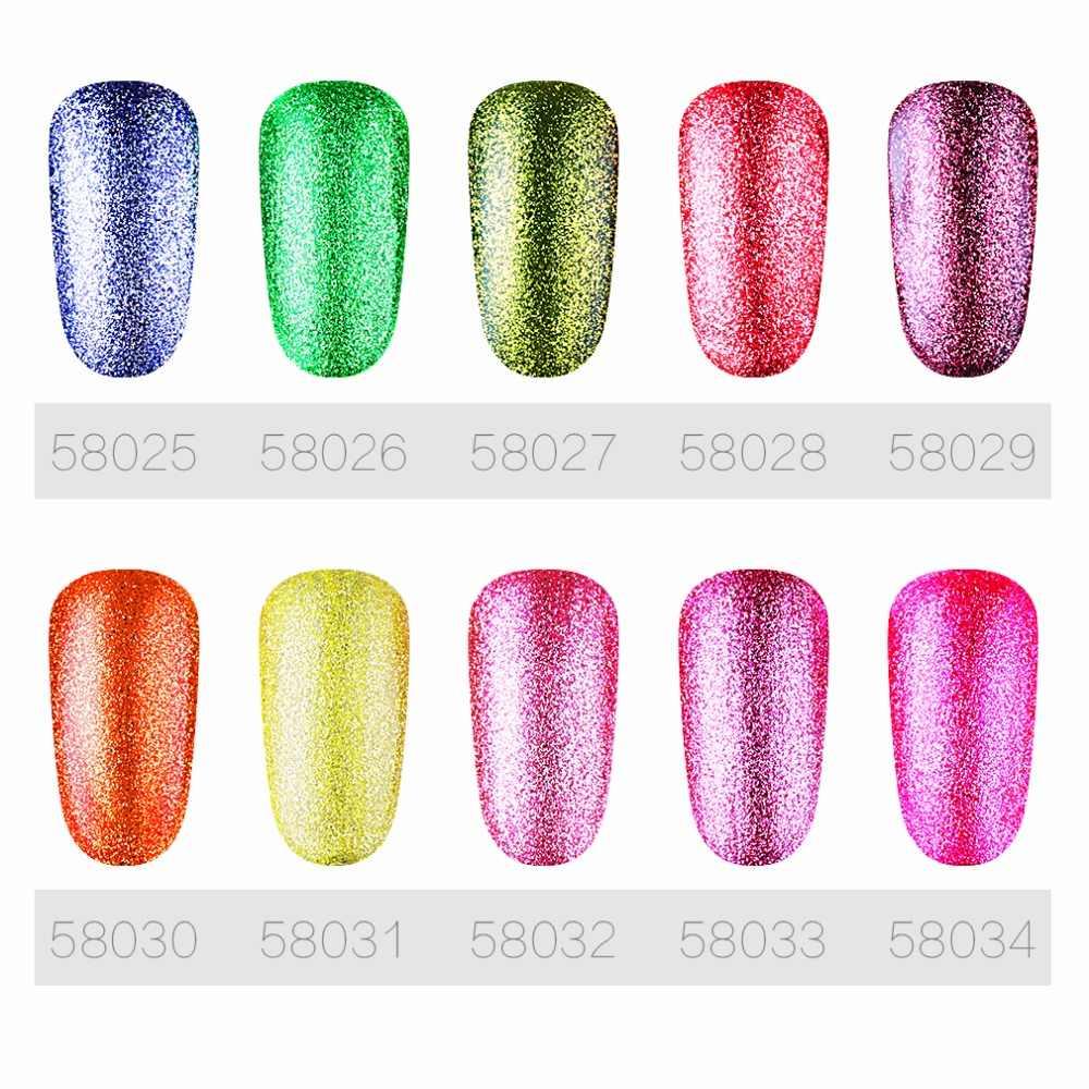 HNM เล็บ 8ml Glitter Bling นีออนสีเคลือบเล็บ Vernis กึ่งถาวร Gellak Lucky Lacquer Vernis Ongle เล็บเจลบำรุงผิว
