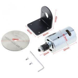 Image 2 - 24V 555 มอเตอร์เห็นตารางชุดแบริ่งวงเล็บยึดและ 60 มม.สำหรับตัด/ขัด