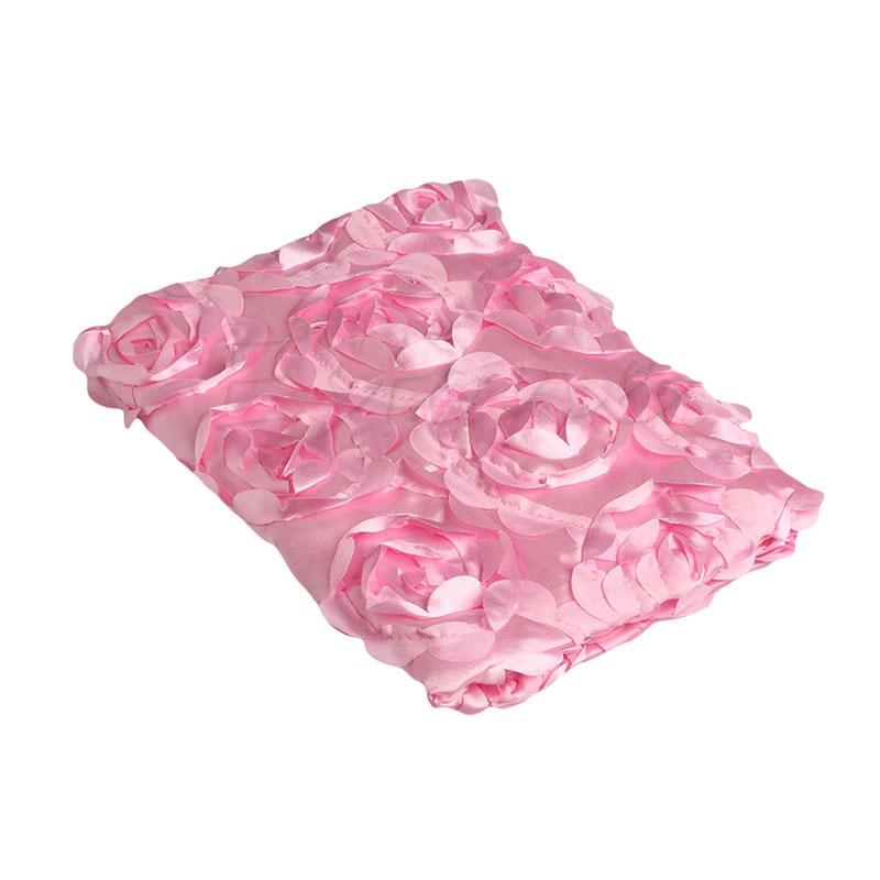 Newborn Photography Props Rug Baby Photo Rose Flower Backdrop Plush Blanket