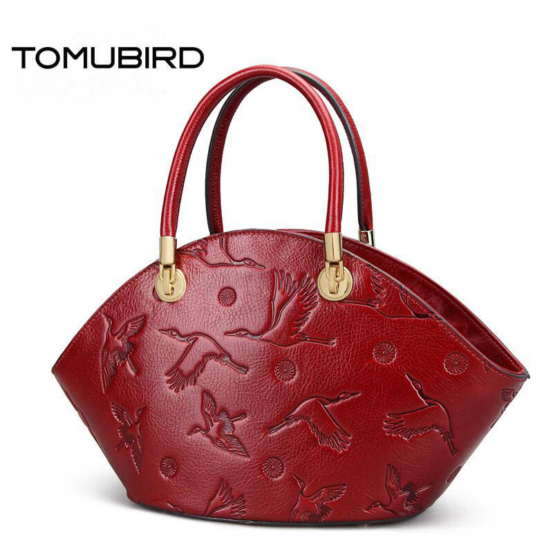 TOMUBIRD Superior cowhide Embossed luxury fashion handbags women bags designer women genuine leather handbags tote bag