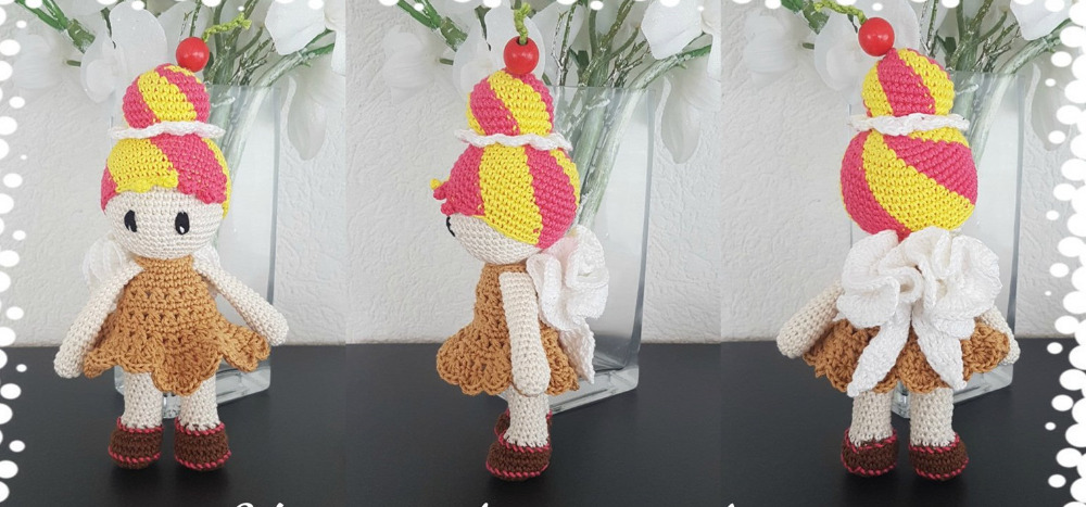 Crochet Toys  Amigurumi  Doll  Girl     Mode     Number  LS0036