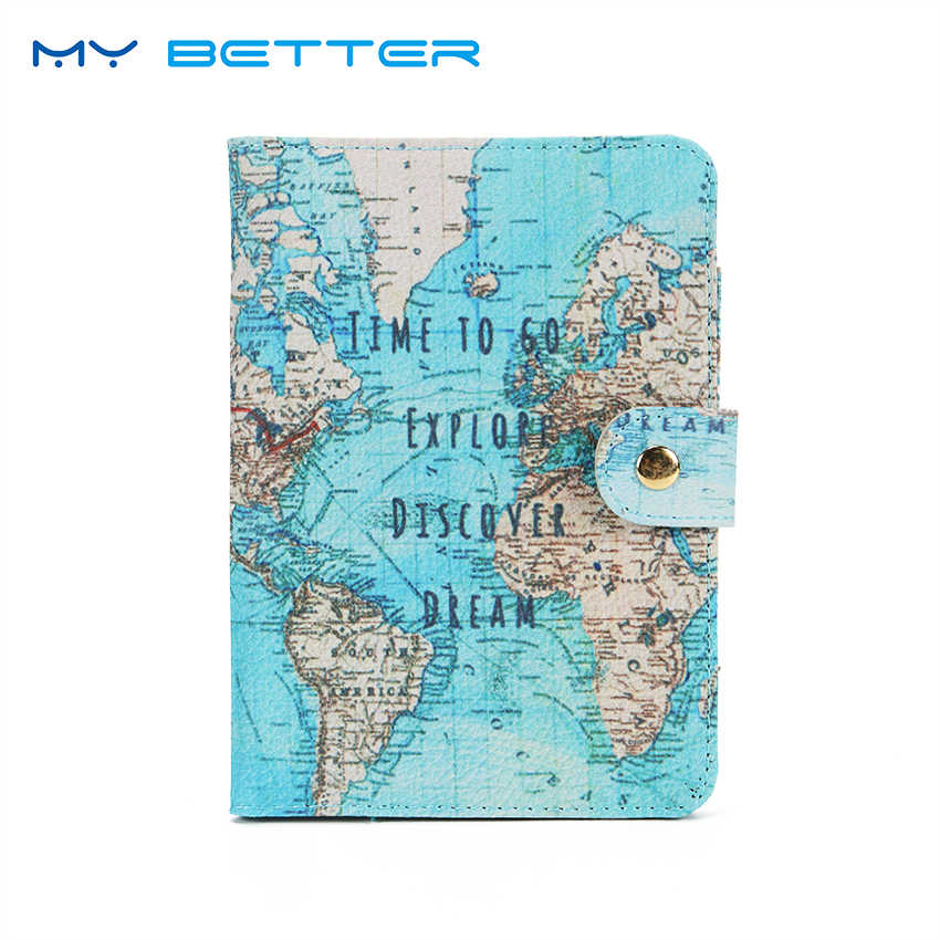 Flamingo Map Passport Covers Travel Accessories Creative PU Leather ID Bank Card Bag Men Women Passport Business Holder