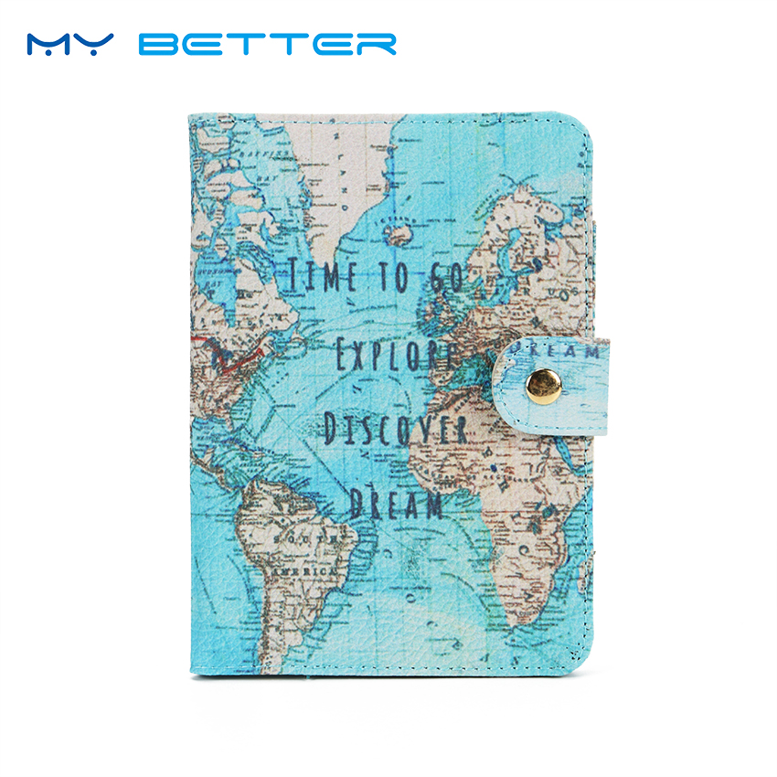 Flamingo Map Passport Covers Travel Accessories Creative PU Leather ID Bank Card Bag Men Women Passport Business Holder hot overseas travel accessories passport cover luggage accessories passport card secret garden