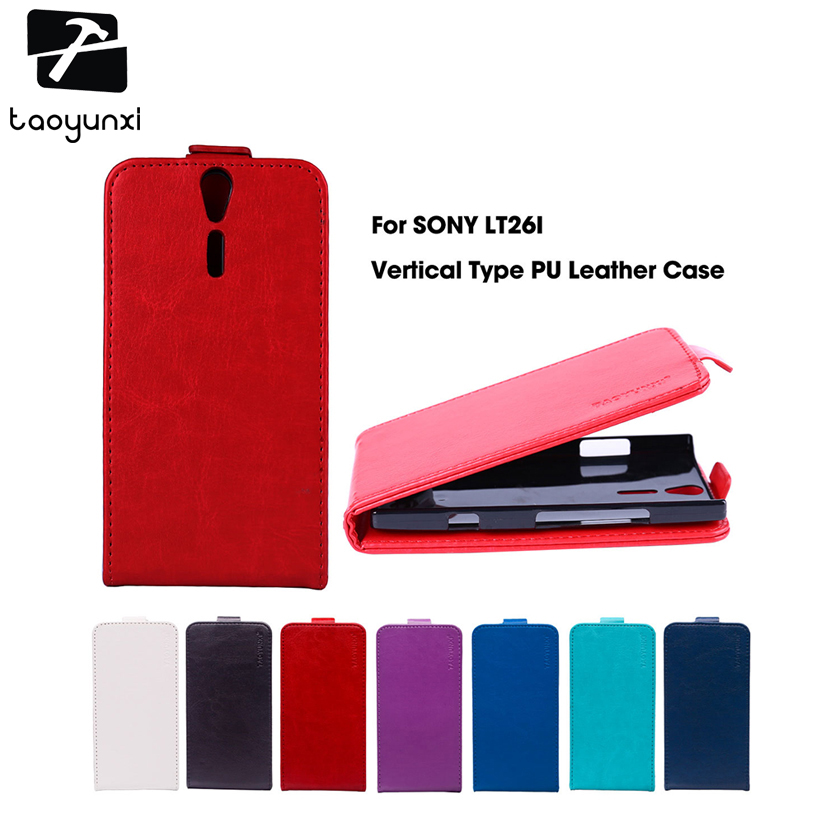TAOYUNXI Flip Phone Covers Cases For Sony Xperia S Lt26i SL Lt26ii P Lt22i V Lt25i LT25h Case Cover Magnetic PU Leather