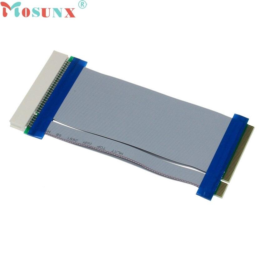 все цены на  mosunx Mecall Tech 32 Bit Flexible PCI Riser Card Extender Flex Extension Ribbon Cable  онлайн