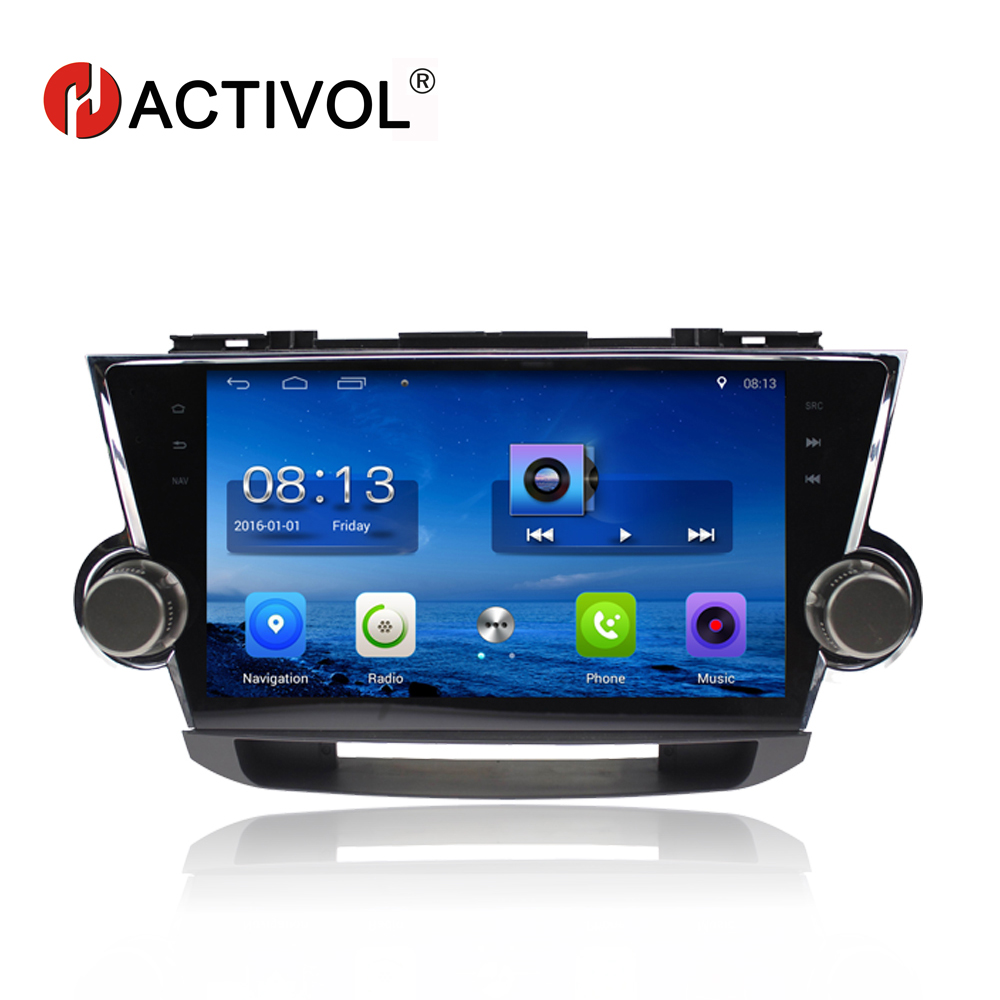 HACTIVOL 10.2 Quadcore car radio for Toyota Highlander Kluger 2008 2009 2010 2011 2012 android 7.0 car DVD player with 1G 16G