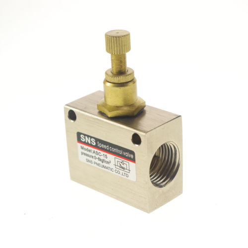 "1/2"" BSPT Pneumatic Air Flow Speed Control Valve Throttle Valve x 1"