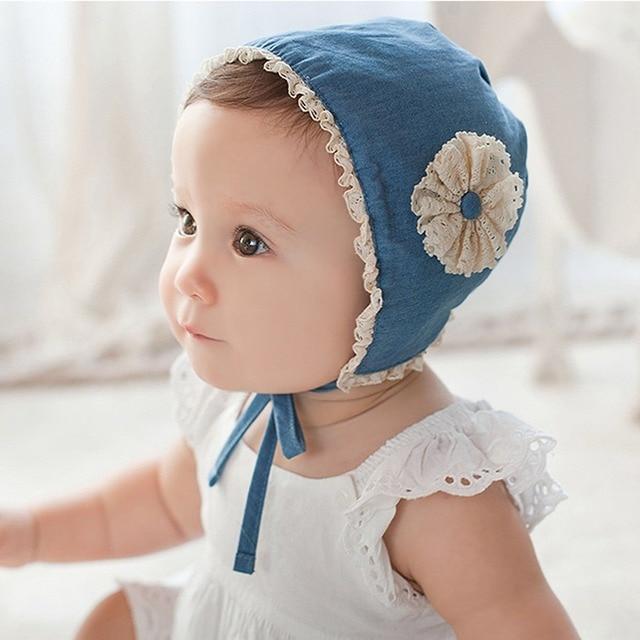 New Summer Fall Unisex Newborn Baby Girls Cotton Hat Cute Flower Hat New  Born Baby Bonnet Photo Props Sun Hat for 3-18 months 68bfce13b06e