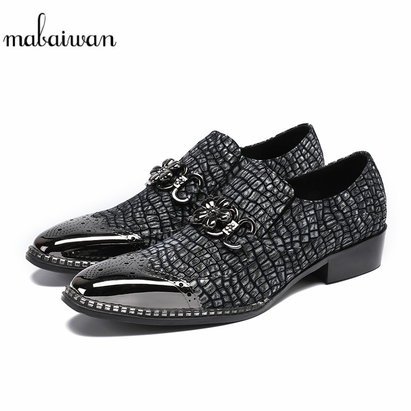 Mabaiwan Black Leather Moccasins Casual Shoes Boots Loafers Chain Flats Pointed Toe Wedding Dress Party Shoes Men Ankle Boots red men wedding dress shoes pointed toe ankle boots genuine leather botas hombre cowboy military boots metal decor men flats