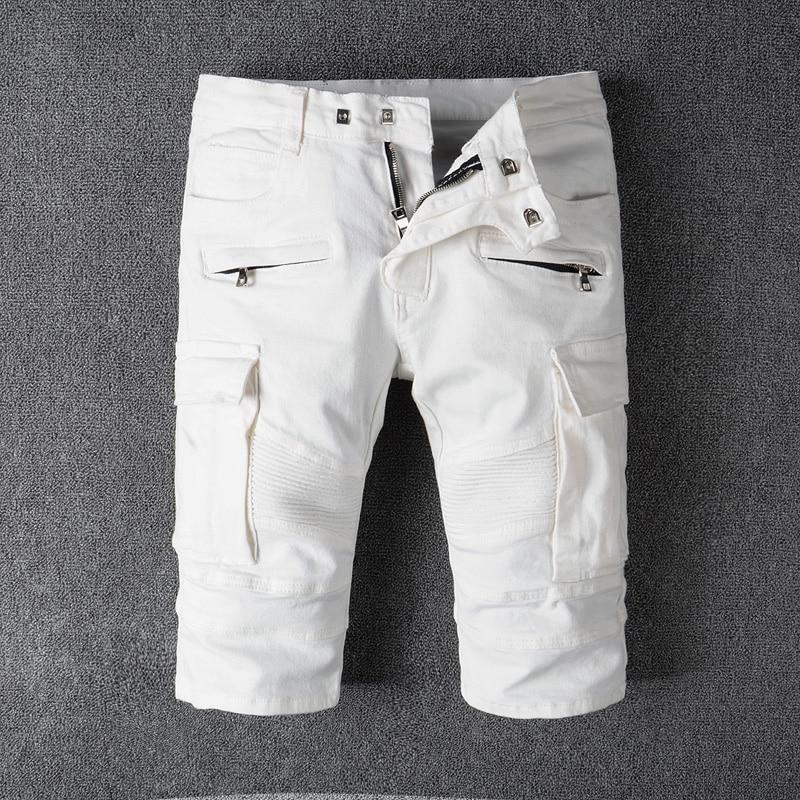 American Stitch 115 Gray Wool Blend Flannel Slim Moto Cargo Jogger Pants