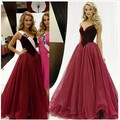 Burgundy Fashion Show Dress Long Celebrity Dresses Red Carpet Icon robe de star courte celebrity tapis rouge rouge 2017