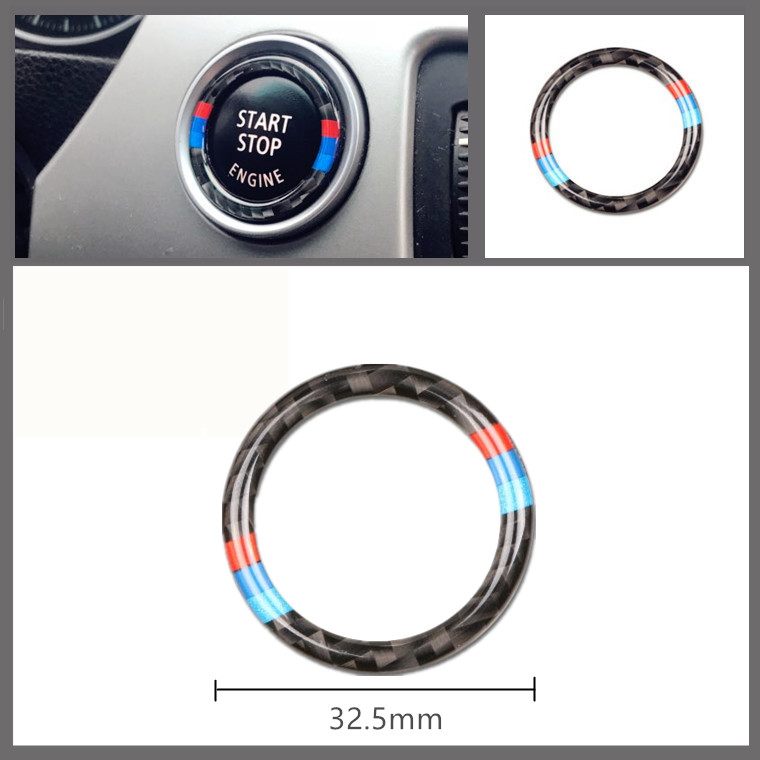 Engine Start Button Auto Decoration Ring Car Sticker Fit For <font><b>BMW</b></font> 3 Series E90 E92 E93 Car Styling image