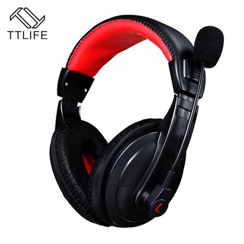 TTLIFE Brand 2016 Hot Sale Over-Ear Game Headset Earphone Gaming Headphone With Microphone Stereo Bass For PC Game Dota
