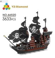 YZ Building Blocks Model Sailing Pirate Ship Boat Model Building Blocks school educational supplies Toys for Children Christmas.