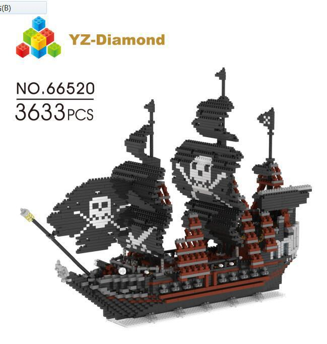 YZ Building Blocks Model Sailing Pirate Ship Boat Model Building Blocks school educational supplies Toys for Children Christmas. sea sailing ship boat compass silicone