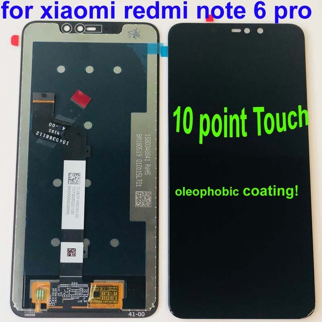 Original for Xiaomi Redmi Note 6 Pro Global LCD Display Screen Touch Assembly Digitizer Touch Screen Parts+10point touch+Frame