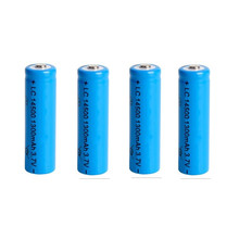 4 PCS/LOT super fire AA 14500 1300mah 3.7 V lithium ion rechargeable batteries and LED flashlight, free delivery