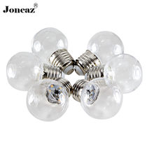 5X E27 B22 rgb ampoule led bulb 12V 24V 110V 220V bombilla 0.5W 1W 2835 G45 Decorative clear lamp home dropshipping Joneaz(China)