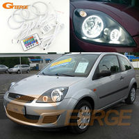 For Ford Fiesta Facelift 2005 2006 2007 2008 Excellent Angel Eyes Kit Multi Color Ultrabright RGB