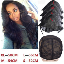 Hot 5 Pcs/Lot Stretch Mesh Lace Wig Caps For Making Wigs XL/L/M/S Adjustable Hair Nets Filet Pour Fabrication Perruques