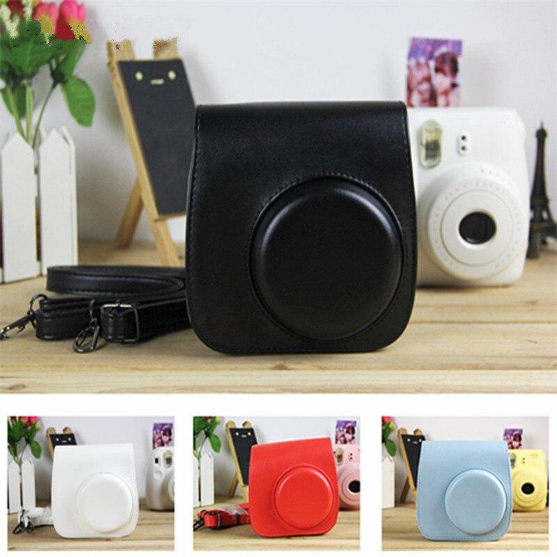 Para Fujifilm Instax Mini 8 8 + 9. accesorios de la Cámara de flores de cuero de la PU cámara instantánea hombro bolsa funda protectora bolsa