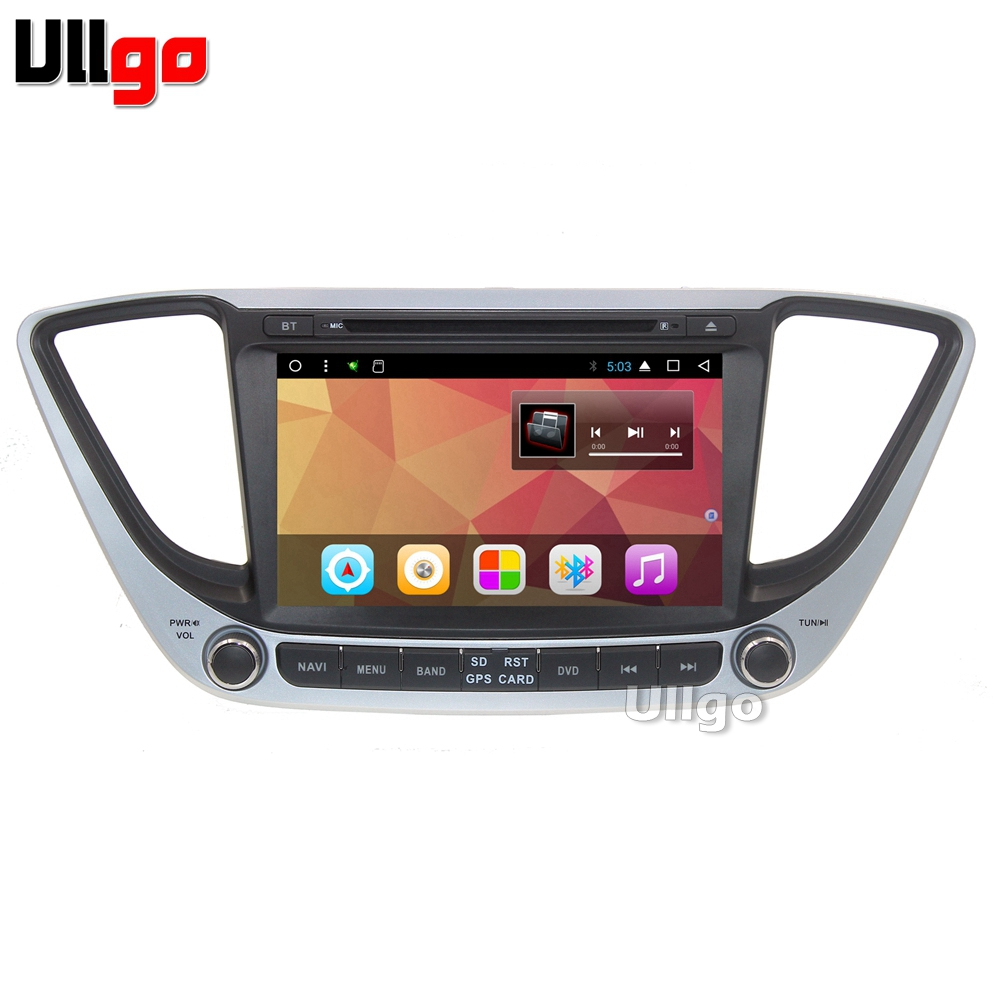 Autoradio Octa Core Android GPS pour Hyundai Accent Solaris 2017 Autoradio GPS avec BT Radio RDS Wifi miroir-lien carte 8 GB