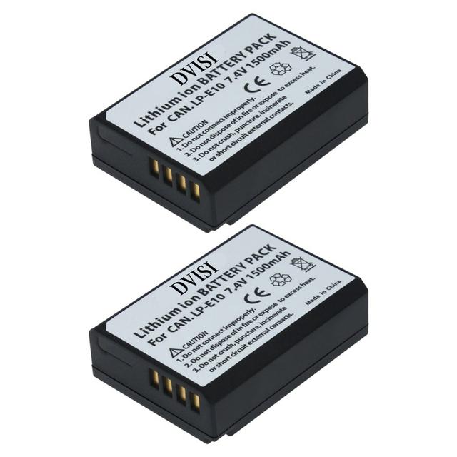 2Pc/lot LP-E10 LP E10 LPE10 Rechargeable Battery for Canon EOS Rebel T3 T5 T6 Kiss X50 Kiss X70 EOS 1100D EOS 1200D EOS 1300D