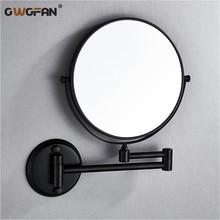 Bath Mirror 8 Inch Folding Black Bathroom 7 3X Magnifying Double 2 Faced Makeup Desktop Women Wall M37-803