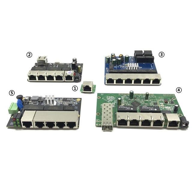 산업용 이더넷 스위치 모듈 5/6/8 포트 unmanaged10/100/1000 mbps oem 자동 감지 포트 pcba 보드 oem 마더 보드