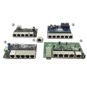 Image 1 - Industrial Ethernet Switch Module 5/6/8 Ports Unmanaged10/100/1000mbps  OEM Auto sensing Ports PCBA board OEM Motherboard