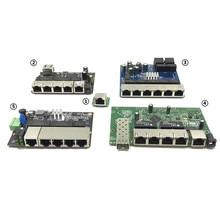 Industriale Modulo Switch Ethernet 5/6/8 Porte Unmanaged10/100/1000 mbps OEM Auto sensing porte bordo PCBA OEM Scheda Madre