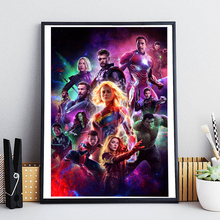 Avengers Endgame Painting Marvel Superheroes Posters and Prints Decorative Wall Art Pictures for Living Room Home Decoration