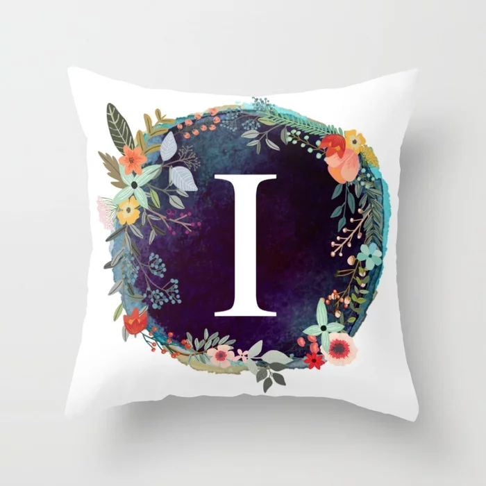 personalized-monogram-initial-letter-i-floral-wreath-artwork-pillows.webp